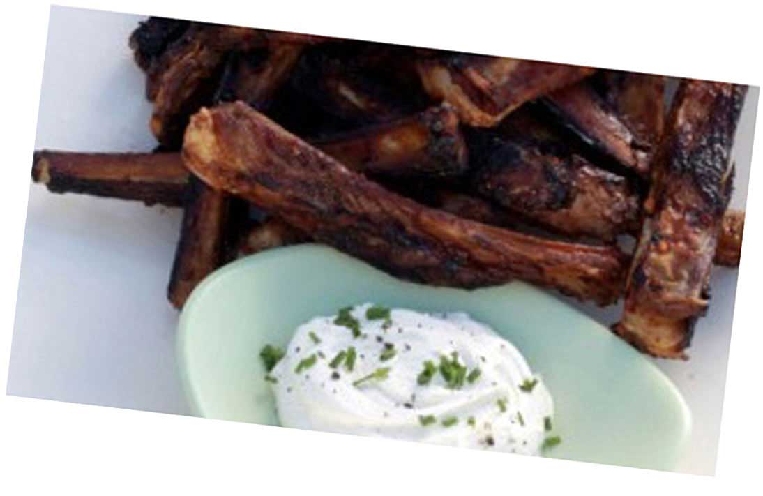 BBQ Ribs with Chive Dip
