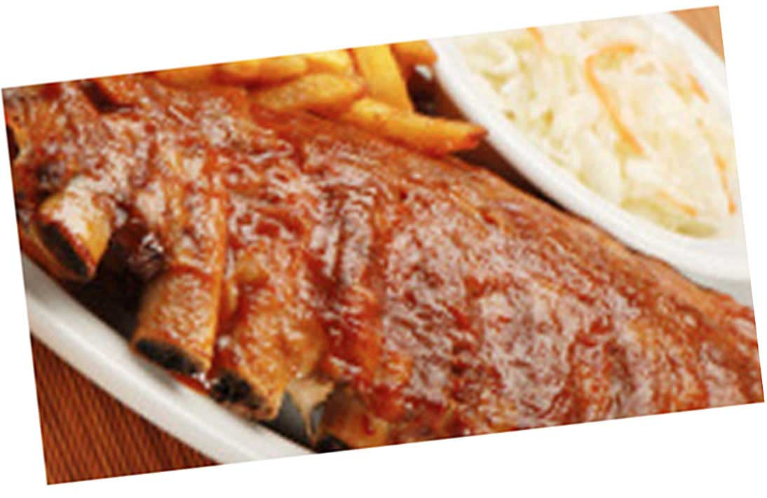 BBQ Ribs with Coleslaw