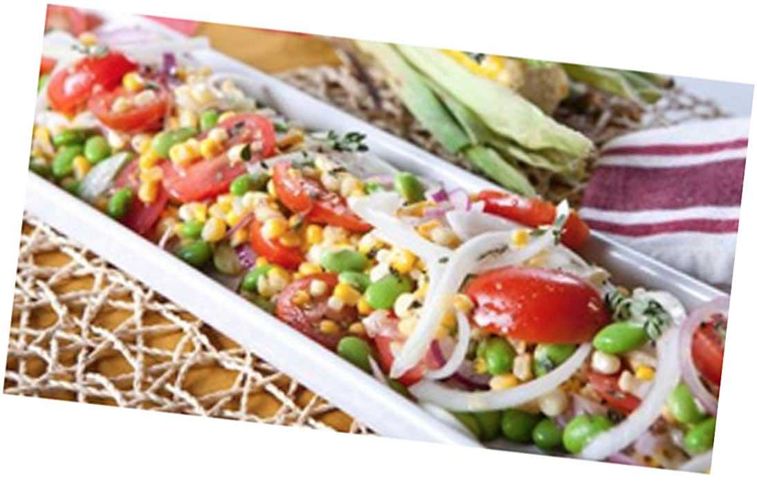 BBQ Ribs with Sucotash Salad